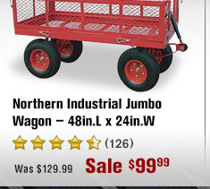 Northern Industrial Jumbo Wagon — 48in.L x 24in.W