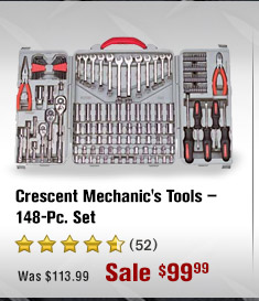Crescent Mechanic's Tools — 148-Pc. Set