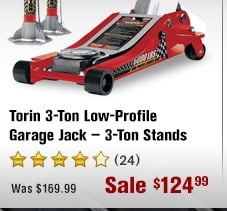 Torin 3-Ton Low-Profile Garage Jack — 3-Ton Stands