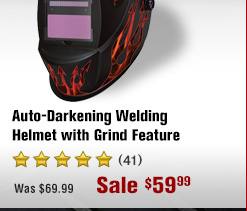 Auto-Darkening Welding Helmet with Grind Feature