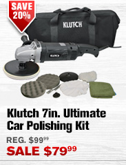 Klutch 7in. Ultimate Car Polishing Kit