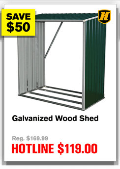 Galvanized Wood Shed