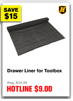 Drawer Liner for Toolbox