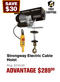 Strongway Electric Cable Hoist
