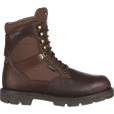 Georgia Homeland Waterproof Insulated 8in. Soft Toe Work Boots — Brown, Size 8 1/2, Model# G109 The price is $114.99.