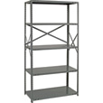 Quantum Heavy-Duty 18-Gauge Industrial Steel Shelving — 5 Shelves, 36in.W x 30in.D x 75in.H, Model# 18G-75-3036-5 The price is $222.99.