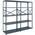 Quantum Heavy-Duty 18-Gauge Industrial Steel Shelving — 6 Shelves, 48in.W x 18in.D x 99in.H, Model# 18G-99-1848-6 The price is $224.99.