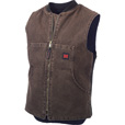 Tough Duck Men's Washed Quilt Lined Vest — Chestnut, Regular Sizes