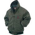 Tough Duck Men's Washed Hooded Bomber - L, Moss The price is $109.99.