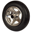 Kenda Loadstar Aluminum 12in. Bias-Ply Trailer Tire and Wheel Assembly — 480 x 12, 5-Hole, Load Range B, Model# DM412B-5ASM The price is $194.99.