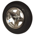 Kenda Loadstar Aluminum 12in. Bias-Ply Trailer Tire and Wheel Assembly — 480 x 12, 4-Hole, Load Range C, Model# DM412C-4ASM The price is $194.99.
