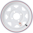 Martin Wheel 12in. Spoked Trailer Tire Wheel — Rim Only, Fits Tire Sizes 4.80 x 12, 5.30 x 12, 4-Hole, Model# R-124S-VN The price is $29.99.