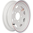 Martin Wheel 12in. Spoked Trailer Tire Wheel — Rim Only, Fits Tire Sizes 4.80 x 12, 5.30 x 12, 5-Hole, Model# R-125S-VN The price is $29.99.