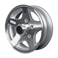 Martin Wheel Aluminum Star Mag 12in. Trailer Wheel — Rim Only, Fits Tire Sizes 480 x 12, 530 x 12, 4-Hole, Model# R-124-ASM The price is $149.99.
