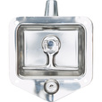 Buyers Heavy-Duty Standard Size Flush Mount T-Handle Latch — Fits 3 3/4in. x 4in. Thick Doors, Model# L8815 The price is $19.99.