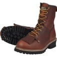 FREE SHIPPING - Gravel Gear Men's 8in. Logger Boots - Brown, Size 10 The price is $62.99.