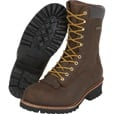 FREE SHIPPING - Gravel Gear Men's 10in. Waterproof Steel Toe Logger Work Boots - Brown, Size 11, Model# NT200401-1ST The price is $90.99.