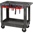 Quantum Industrial Plastic Cart — Tool Holder, 35in.H, 2-Shelf, Model# PC3518-33PCTH The price is $174.99.