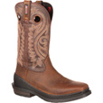 FREE SHIPPING — Rocky 12in. Waterproof Western Square Toe Work Boots - Brown, Size 11 1/2, Model# RKW0147 The price is $79.99.