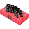 FREE SHIPPING — Sunex Tools Socket Set — 12-Pc., 3/8in. Drive, SAE Sizes, Model# 3674