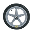 Northern Industrial Tools 16in. Poly Wheel and Tire The price is $22.99.