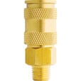 Milton V-Style Hi-Flo Coupler Body — Brass, 1/4in. MNPT, Model# S-765 The price is $7.99.