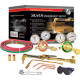 Gentec Silver Series Medium-Duty Cutting and Welding Outfit — Oxyacetylene, 12-Piece Set, Model# 7120B The price is $259.99.