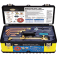 Northern Industrial Welders Medium-Duty Cutting and Welding Outfit with Toolbox — Oxyacetylene Victor-Style, 11-Piece Set The price is $219.99.