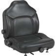 Michigan Seat Skid Steer and Forklift Seat with Variable Suspension — Black, Model# V-5200