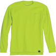 FREE SHIPPING — Gravel Gear Men's Warrior Stain-Resistant Long Sleeve Pocket T-Shirt with Teflon Fabric Protector — Lime, XL The price is $11.99.