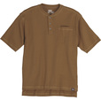 FREE SHIPPING — Gravel Gear Men's Warrior Henley Shirt with Teflon Fabric Protector — Short Sleeve, Khaki, 2XL The price is $12.99.