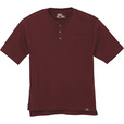FREE SHIPPING — Gravel Gear Men's Warrior Henley Shirt with Teflon Fabric Protector — Short Sleeve, Wine, XL The price is $12.99.