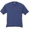 FREE SHIPPING - Gravel Gear Men's Warrior Henley Shirt with Teflon - Short Sleeve, Blue, 3XL The price is $12.99.