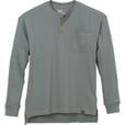 FREE SHIPPING - Gravel Gear Men's Warrior Long Sleeve Henley Shirt with Teflon - Slate, Medium The price is $13.99.