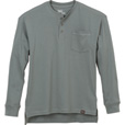 Gravel Gear Men's Warrior Long Sleeve Henley Shirt with Teflon - Slate, XL The price is $19.99.