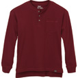 FREE SHIPPING - Gravel Gear Men's Warrior Henley Shirt with Teflon - Long Sleeve, Wine, 3XL The price is $19.99.