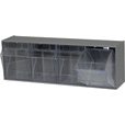 Quantum Storage Tip Out Storage Bin — 6 5/8in. x 23 5/8in. x 8 1/8in. Size, Gray, 4-Bin System The price is $42.99.