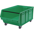 Quantum Storage Mobile Magnum Bin — 29in. x 18 3/8in. x 14 7/8in. Size, Green The price is $79.99.