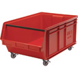 Quantum Storage Mobile Magnum Bin — 29in. x 18 3/8in. x 14 7/8in. Size, Red The price is $79.99.