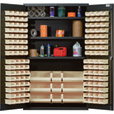 Quantum Storage Cabinet With 137 Bins — 48in. x 24in. x 78in. Size, Ivory The price is $1,499.99.