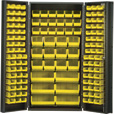 Quantum Storage Cabinet With 132 Bins — 36in. x 24in. x 72in. Size