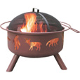 Landmann Fire Pit with Accessories — Big Sky Wildlife, Model# 28337 The price is $139.99.