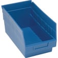 Quantum Storage Store-More 6in. Shelf Bin — 11 5/8in.L x 6 5/8in.W x 6in.H Size, Blue, Carton of 30 The price is $114.99.