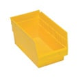 Quantum Storage Store-More 6in. Shelf Bin, 11 5/8in.L x 6 5/8in.W x 6in.H Size, Yellow, Carton of 30 The price is $114.99.