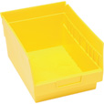 Quantum Storage Store-More 6in. Shelf Bin — 11 5/8in.L x 8 3/8in.W x 6in.H Size, Yellow, Carton of 20 The price is $84.99.