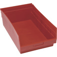 Quantum Storage Store-More 6in. Shelf Bin — 17 7/8in.L x 11 1/8in.W x 6in.H Size, Red, Carton of 8 The price is $67.99.
