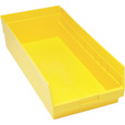 Quantum Storage Store-More 6in. Shelf Bin — 23 5/8in.L x 11 1/8in.W x 6in.H Size, Yellow, Carton of 6 The price is $89.99.