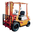 FREE SHIPPING — HYSTER Reconditioned Forklift — 3 Stage with Side Shift, 5,000-lb. Capacity, 1997-2003, Model# HY H50XM 97-03 TSU S/S The price is $15,999.99.
