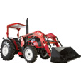NorTrac 50XT 50 HP 4WD Tractor with Front-End Loader — with Turf Tires