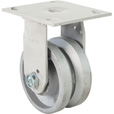 Fairbanks Rigid Steel V-Groove Caster — 4in., Model# 152232423 The price is $26.99.